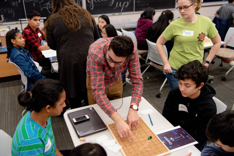 Quantum computing outreach programming for kids in the K-12 system led by Haris Amiri and colleagues.