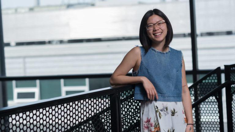 Cissy Suen, a graduate student in the International PhD Program in Quantum Materials pictured at SBQMI at UBC.