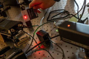 Wires and devices used in the Ultrafast Nano Optics lab.