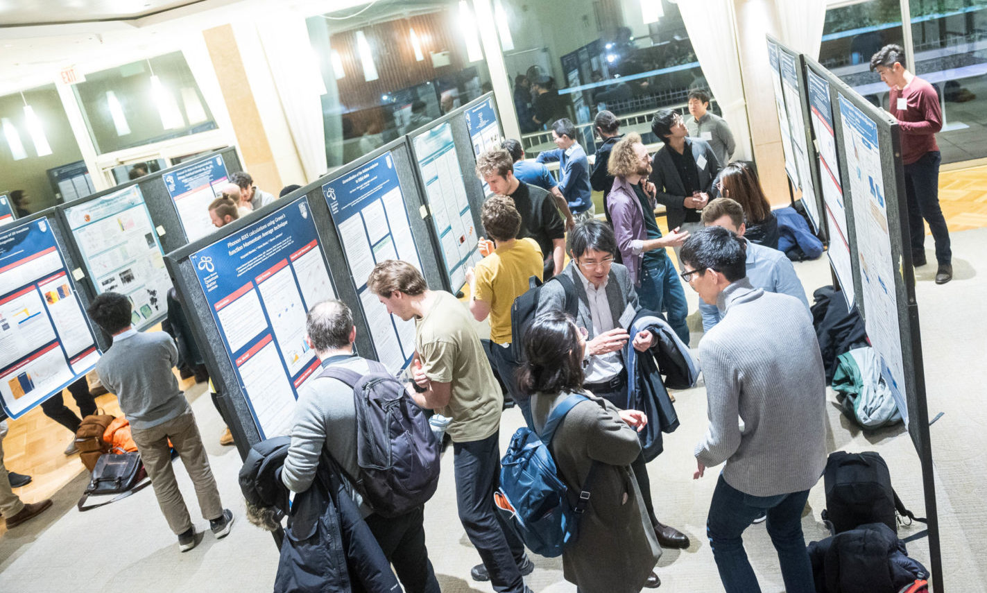 Poster presentations during a visit from our partners at the Max Planck Institute and University of Tokyo.