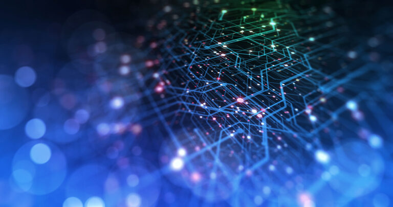 Abstract image representing quantum computing circuits